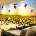 Балони над слънчогледи
