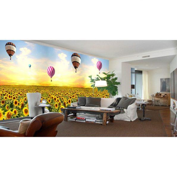 Балони над слънчогледи_1