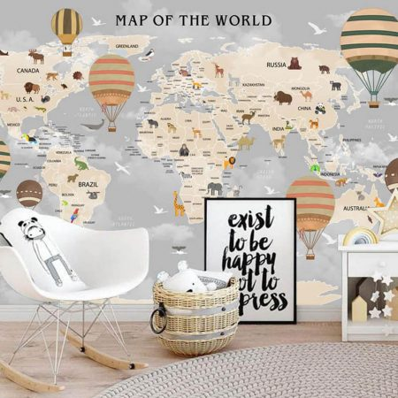 Фототапет Карта на света