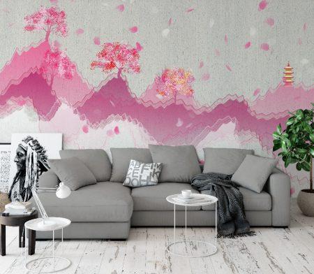 Фототапет Розова гора