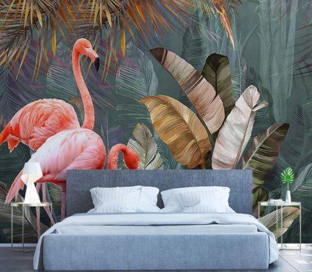Фототапет Тропическо фламинго