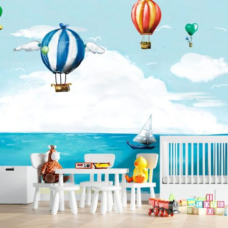 Фототапет Шарени летящи балони