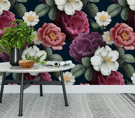 Фототапет Стена в цветя
