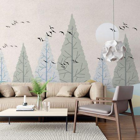 Фототапет Птици в гората