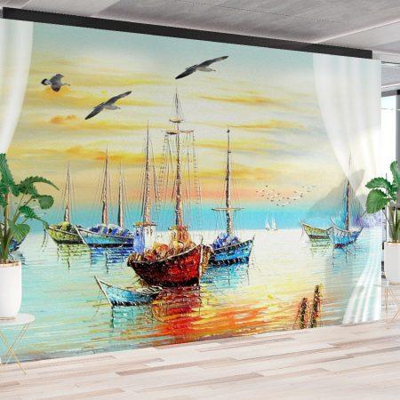 Фототапет Рибарски лодки