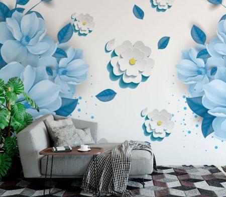 Фототапет Сини цветя