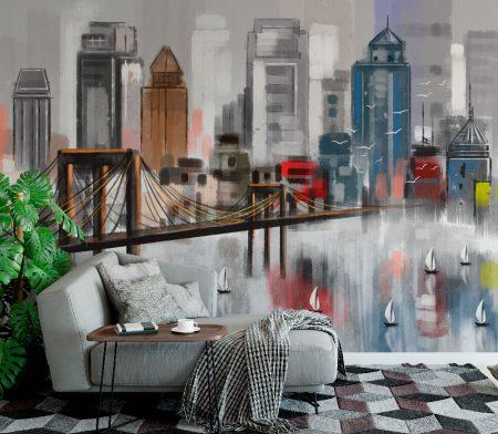 Фототапет Рисуван град