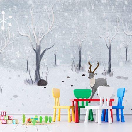 Фототапет Снежна картина
