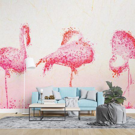 Фототапет Фламинго абстракт
