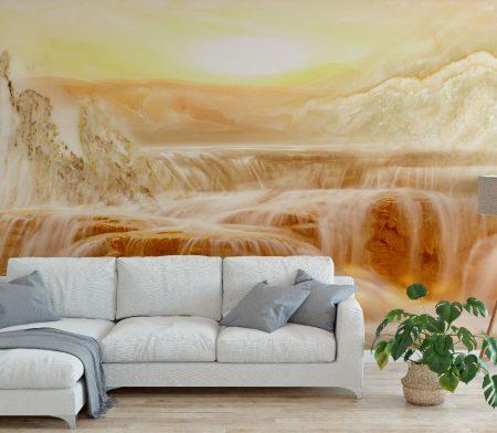 Фототапет Кехлибарен водопад 2
