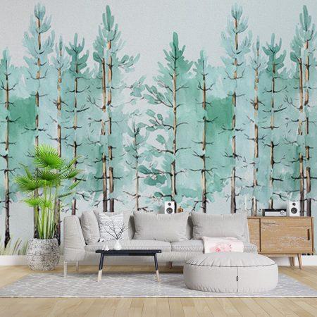 Фототапет Рисувани дръвчета