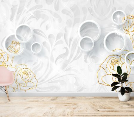 Фототапет Блясък в бяло