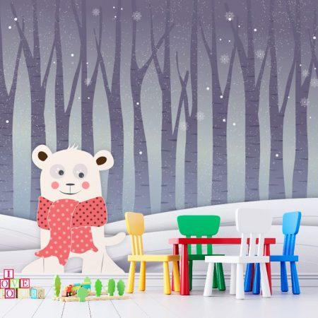 Фототапет Мече в снега