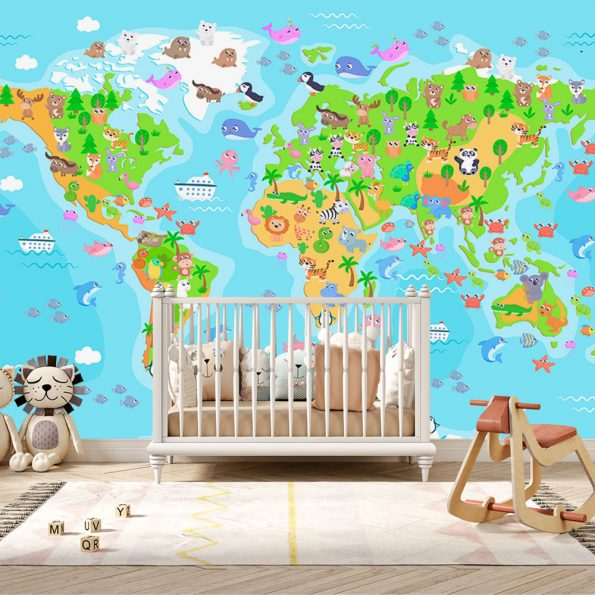 detski-fototapet-karta-s-jivotni (10)