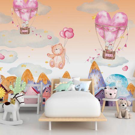 Детски фототапет - Сърца и балони