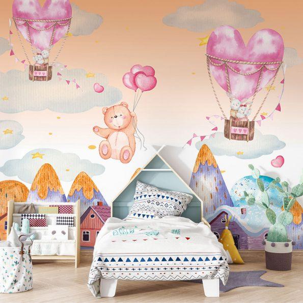 detski-fototapet-syrca-i-baloni (4)