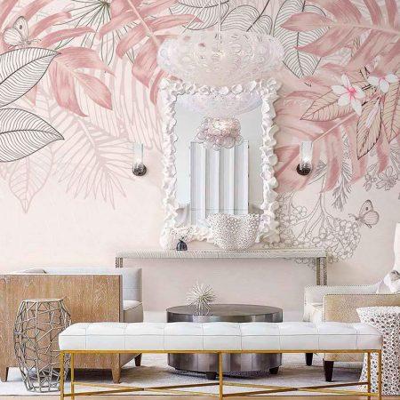 Фототапет - Екзотична розова гора