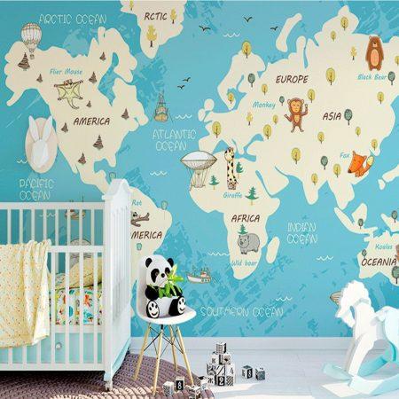Фототапет Карта с животни