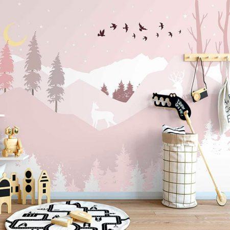 Фототапет Розова планина