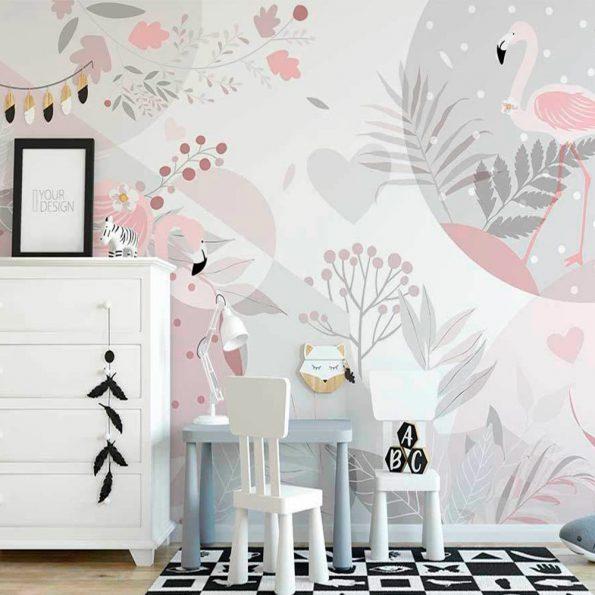 fototapet-rozovo-flamingo-v-gorata (2)
