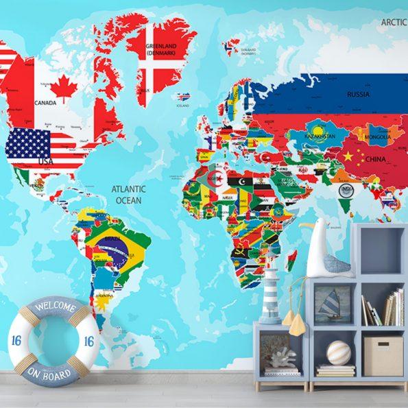 fototapet-svetovna-karta-sys-znamena (8)
