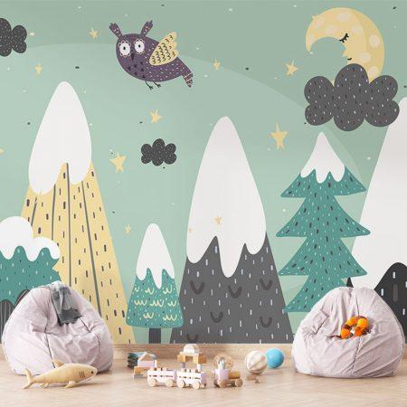 Фототапет за детска стая - Бухал