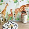 Фототапет за детска стая - Семейство жирафи