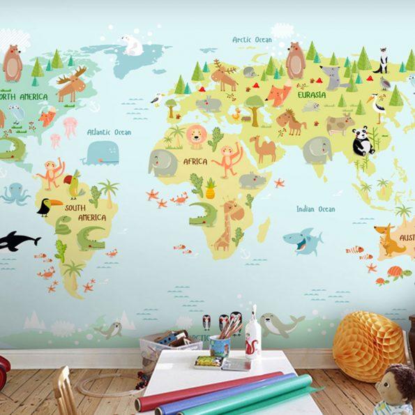 fototapet-za-detska-staq-zelena-karta-na-sveta (2)