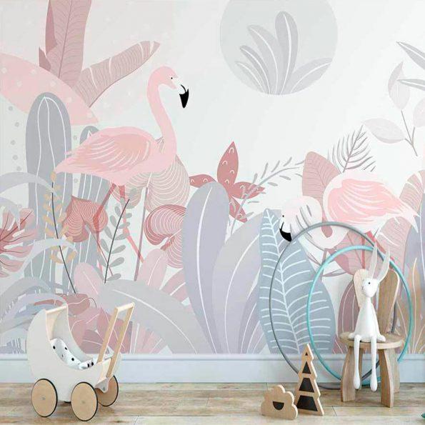 tapet-za-detska-staq-rozovo-flamingo (2)