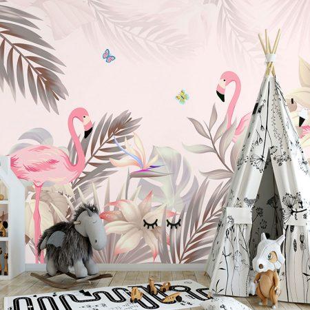 Фототапет Розова джунгла
