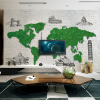 Фототапет Зелена карта на света