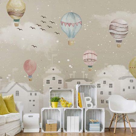 Фототапет Балони над града