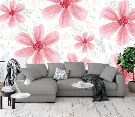 Фототапет Розови цветя