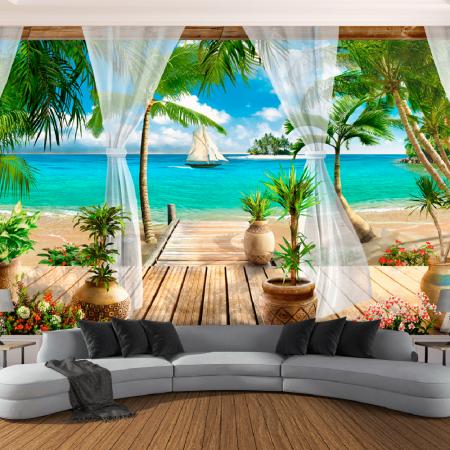 Фототапет Прозорец към Хавай