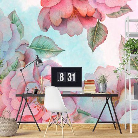 Фототапет Рисувани цветя