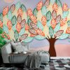 Фототапет Рисунка на дръвчета