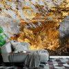 Фототапет Стена в сиво и злато