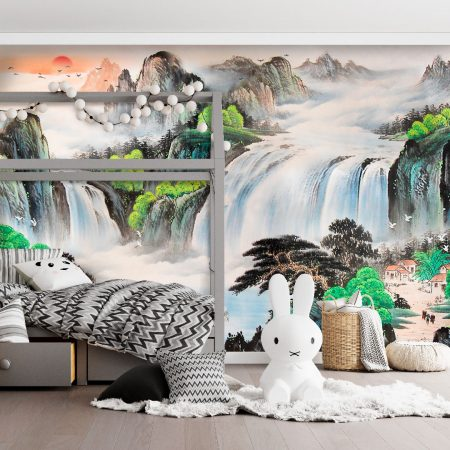 Фототапет Картина на водопади