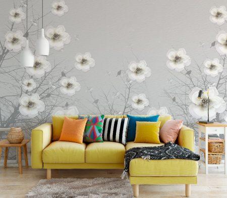 Фототапет Мътни цветя