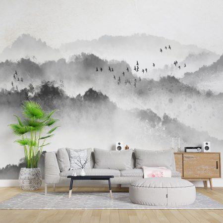 Фототапет Гори в мъгла