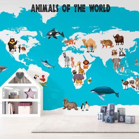 Детски фототапет - Животните по света