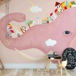 detski-fototapet-rozov-slon (1)
