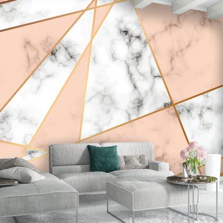 Фототапет Бледо розов мрамор