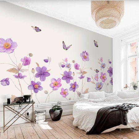 Фототапет Цветя и пеперуди 2