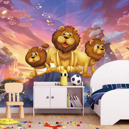 Фототапет Малки лъвчета