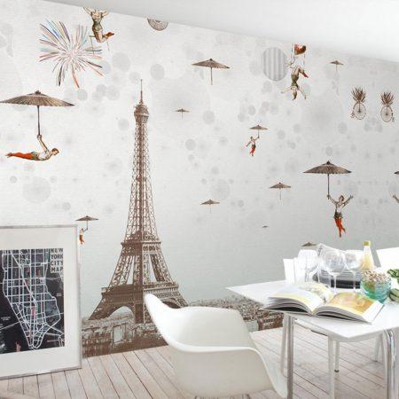 Фототапет - Полет над Париж