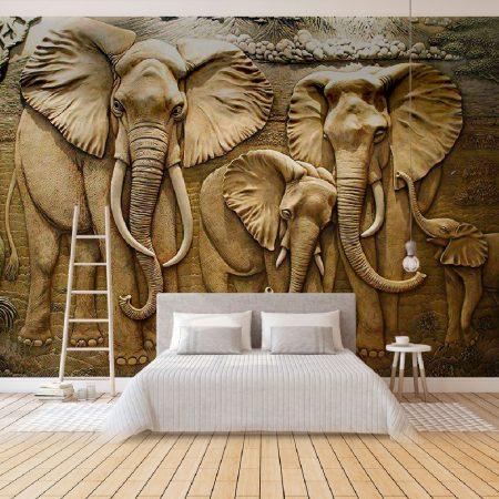 Фототапет Пясъчни слонове