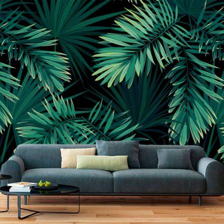 Фототапет с големи цветя - Зеленика
