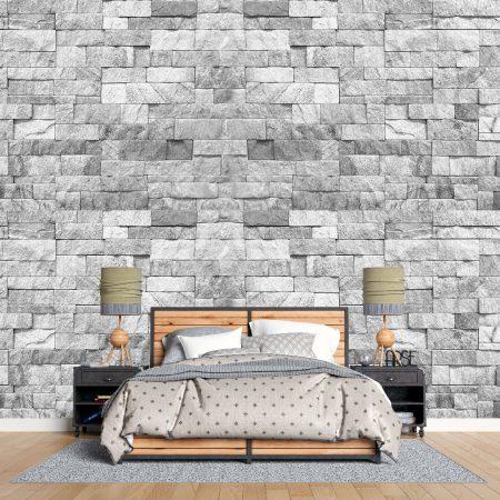 Фототапет Сива каменна стена