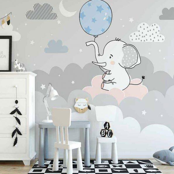fototapet-slon-s-balon (1)